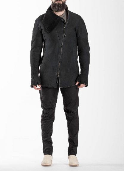 Leon Emanuel Blanck LEB Men Distortion Straight Jacket DIS M SJ 01 Herren Jacke merino shearling leather black hide m 4