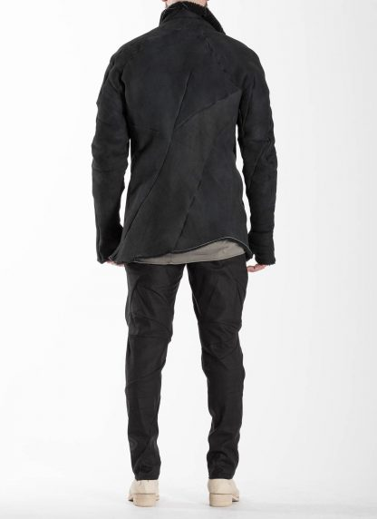 Leon Emanuel Blanck LEB Men Distortion Straight Jacket DIS M SJ 01 Herren Jacke merino shearling leather black hide m 6