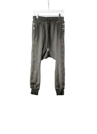 BORIS BIDJAN SABERI BBS LONGJOHN2.1 F0406C men pants herren hose jogger cotton ly faded dark grey hide m 2