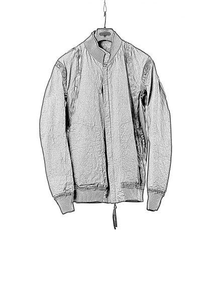 BORIS BIDJAN SABERI BBS Men Exclusively Jacket J3 F1506N Reversible Seam Taped Resin Dyed Herren Bomber Jacke Blouson cotton black hide m 3