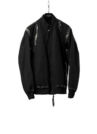 BORIS BIDJAN SABERI BBS Men Exclusively Jacket J3 F1506N Reversible Seam Taped Resin Dyed Herren Bomber Jacke Blouson cotton black hide m 4