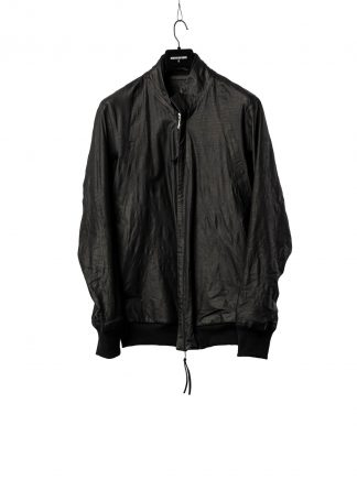 BORIS BIDJAN SABERI BBS Men Exclusively Jacket J3 FTM20009 Reversible Flat Stitch Seam Taped Oil Washed Body Molded Herren Bomber Jacke Blouson soft baby calf leather black hide m 2