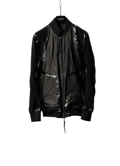 BORIS BIDJAN SABERI BBS Men Exclusively Jacket J3 FTM20009 Reversible Flat Stitch Seam Taped Oil Washed Body Molded Herren Bomber Jacke Blouson soft baby calf leather black hide m 4