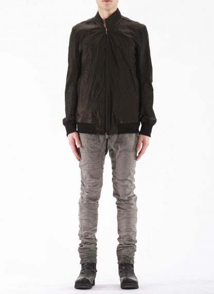 BORIS BIDJAN SABERI BBS Men Exclusively Jacket J3 FTM20009 Reversible Flat Stitch Seam Taped Oil Washed Body Molded Herren Bomber Jacke Blouson soft baby calf leather black hide m 5
