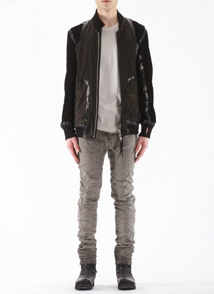 BORIS BIDJAN SABERI BBS Men Exclusively Jacket J3 FTM20009 Reversible Flat Stitch Seam Taped Oil Washed Body Molded Herren Bomber Jacke Blouson soft baby calf leather black hide m 8