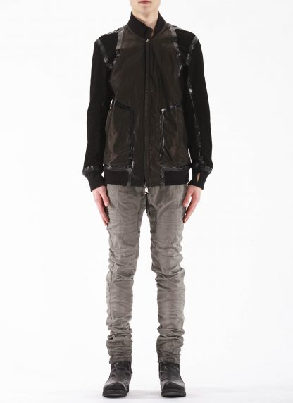 BORIS BIDJAN SABERI BBS Men Exclusively Jacket J3 FTM20009 Reversible Flat Stitch Seam Taped Oil Washed Body Molded Herren Bomber Jacke Blouson soft baby calf leather black hide m 9