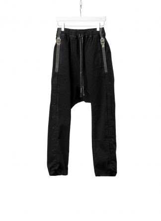 BORIS BIDJAN SABERI BBS Men Pants P28.4 F1603K resin dyed Herren Hose cotton pu black hide m 2