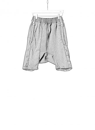 BORIS BIDJAN SABERI BBS Men Shorts Pants P28.3 F1603K resin dyed Herren Short Kurze Hose cotton pu black hide m 1