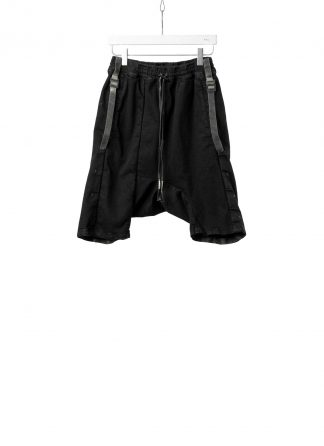 BORIS BIDJAN SABERI BBS Men Shorts Pants P28.3 F1603K resin dyed Herren Short Kurze Hose cotton pu black hide m 2
