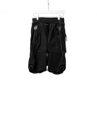 BORIS BIDJAN SABERI BBS Men Shorts Pants P8.1 F0406C Waffle Vinyl Coated Nickel Pressed 2 Tons Herren Short Kurze Hose cotton ly black hide m 2