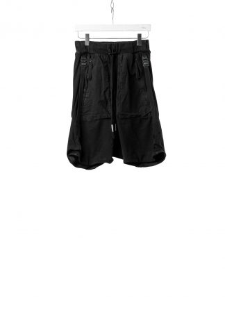BORIS BIDJAN SABERI BBS Men Shorts Pants P8.1 F0409C Vinyl Coated Nickel Pressed 2 Tons Herren Short Kurze Hose cotton ly black hide m 2
