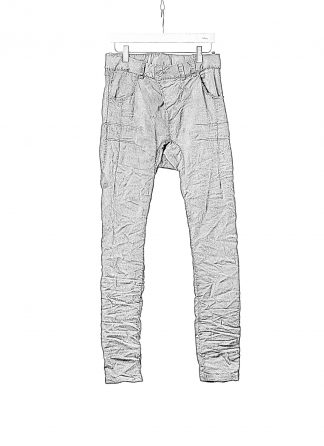 BORIS BIDJAN SABERI BBS P13HS TF F1939 Men Tight Fit Pants Fully Hand Stitched 16h Vinyl Processed Nickel Pressed 2 Tons Body Molded herren hose jeans handmade cotton ly dark grey hide m 1