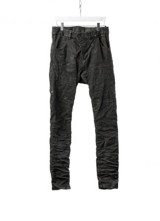 BORIS BIDJAN SABERI BBS P13HS TF F1939 Men Tight Fit Pants Fully Hand Stitched 16h Vinyl Processed Nickel Pressed 2 Tons Body Molded herren hose jeans handmade cotton ly dark grey hide m 2