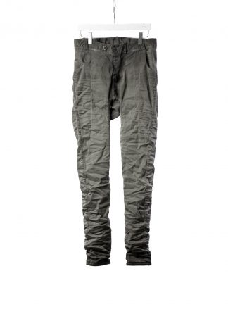 BORIS BIDJAN SABERI BBS P14 F1939 Men Pants 2h Hand Stitched Double Object Dyed Nickel Pressed 2 Tons Body Molded herren hose jeans cotton ly faded dark grey hide m 2