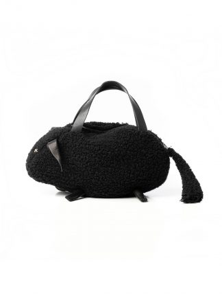 MA MACROSS Maurizio Amadei BELA1 JWPP Momen Sheep Bag Damen Tasche virgin wool black black hide m 2