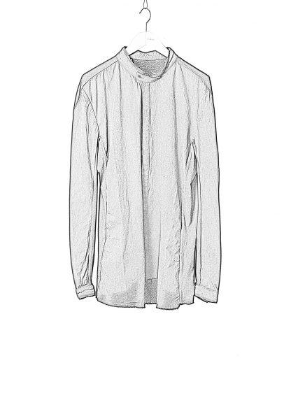 BORIS BIDJAN SABERI BBS Men Button Down Shirt SHIRT1 F1505F Object Dyed Herren Hemd cotton black hide m 1