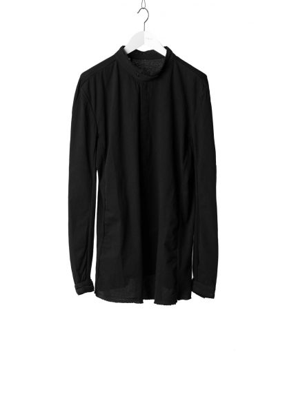 BORIS BIDJAN SABERI BBS Men Button Down Shirt SHIRT1 F1505F Object Dyed Herren Hemd cotton black hide m 2
