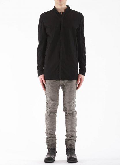BORIS BIDJAN SABERI BBS Men Button Down Shirt SHIRT1 F1505F Object Dyed Herren Hemd cotton black hide m 3