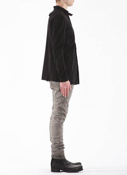 BORIS BIDJAN SABERI BBS Men Button Down Shirt SHIRT1 F1505F Object Dyed Herren Hemd cotton black hide m 4