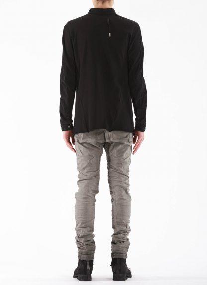 BORIS BIDJAN SABERI BBS Men Button Down Shirt SHIRT1 F1505F Object Dyed Herren Hemd cotton black hide m 5