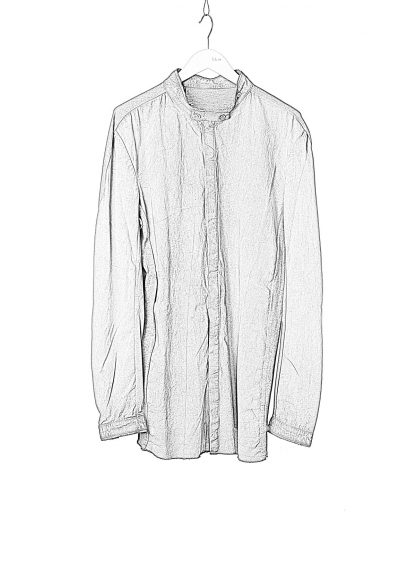 BORIS BIDJAN SABERI BBS Men Button Down Shirt SHIRT1 F1505F Resin Dyed Herren Hemd cotton faded dark grey hide m 1