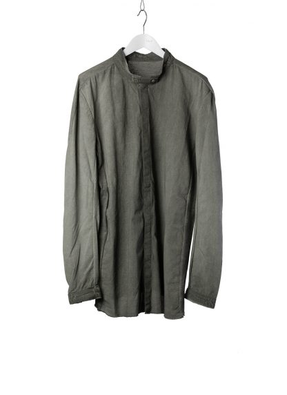 BORIS BIDJAN SABERI BBS Men Button Down Shirt SHIRT1 F1505F Resin Dyed Herren Hemd cotton faded dark grey hide m 2