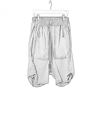 BORIS BIDJAN SABERI BBS Men Shorts Pants P8.1 F0409C Herren Short Hose cotton ly faded dark grey hide m 1
