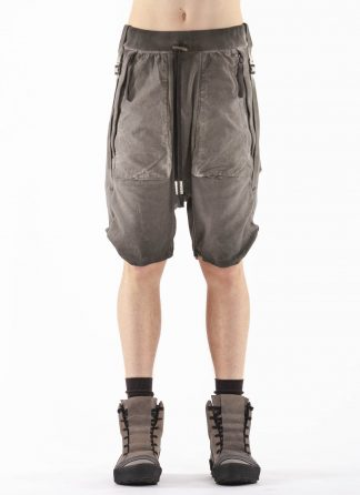BORIS BIDJAN SABERI BBS Men Shorts Pants P8.1 F0409C Herren Short Hose cotton ly faded dark grey hide m 3