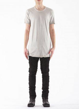 BORIS BIDJAN SABERI BBS Men Tshirt Regular Fit TS1 RF Resin Dyed F035 cotton faded light grey hide m 3