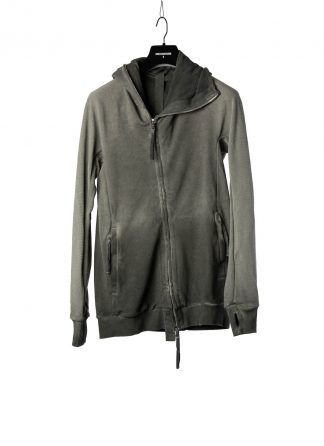 BORIS BIDJAN SABERI BBS Men Zip Hoody Jacket ZIPPER2 F0503M Resin Dyed Herren Jacke Strickjacke cotton faded dark grey hide m 2