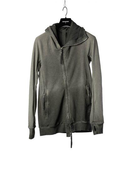 BORIS BIDJAN SABERI BBS Men Zip Hoody Jacket ZIPPER2 F0503M Resin Dyed Herren Jacke Strickjacke cotton faded dark grey hide m 2