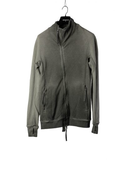 BORIS BIDJAN SABERI BBS Men Zip Jacket ZIPPER1 F0503M Resin Dyed Herren Jacke Strickjacke cotton faded dark grey hide m 2