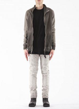 BORIS BIDJAN SABERI BBS Men Zip Jacket ZIPPER1 F0503M Resin Dyed Herren Jacke Strickjacke cotton faded dark grey hide m 3