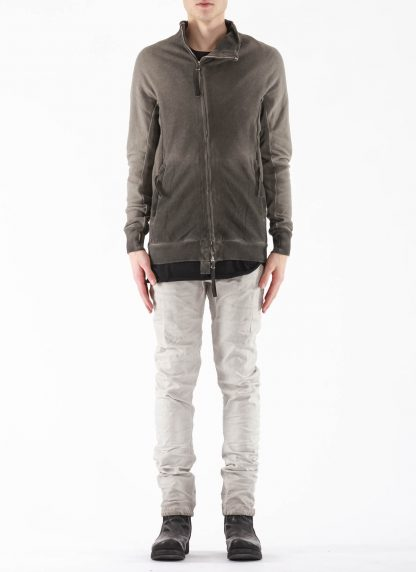 BORIS BIDJAN SABERI BBS Men Zip Jacket ZIPPER1 F0503M Resin Dyed Herren Jacke Strickjacke cotton faded dark grey hide m 4