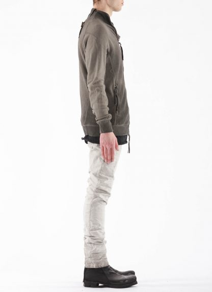 BORIS BIDJAN SABERI BBS Men Zip Jacket ZIPPER1 F0503M Resin Dyed Herren Jacke Strickjacke cotton faded dark grey hide m 5