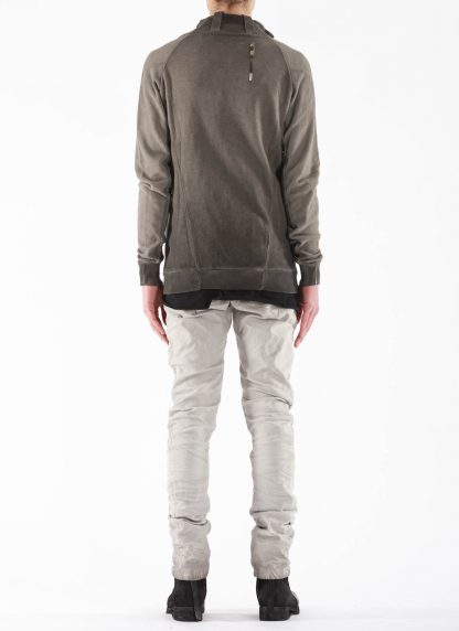 BORIS BIDJAN SABERI BBS Men Zip Jacket ZIPPER1 F0503M Resin Dyed Herren Jacke Strickjacke cotton faded dark grey hide m 6