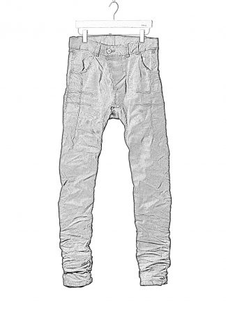 BORIS BIDJAN SABERI BBS P13HS TF FET10004 Men Tight Fit Pants Fully Hand Stitched 16h Vinyl Processed Nickel Pressed 2 Tons Body Molded herren hose jeans handmade cotton pl ea dark grey hide m 1