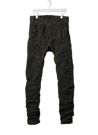 BORIS BIDJAN SABERI BBS P13HS TF FET10004 Men Tight Fit Pants Fully Hand Stitched 16h Vinyl Processed Nickel Pressed 2 Tons Body Molded herren hose jeans handmade cotton pl ea dark grey hide m 2
