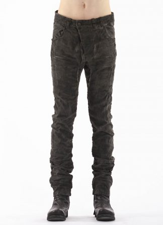 BORIS BIDJAN SABERI BBS P13HS TF FET10004 Men Tight Fit Pants Fully Hand Stitched 16h Vinyl Processed Nickel Pressed 2 Tons Body Molded herren hose jeans handmade cotton pl ea dark grey hide m 3