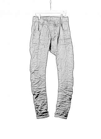 BORIS BIDJAN SABERI BBS P13TF FTS10001 vinyl coated nickel pressed men pants herren hose jeans cotton ly black hide m 1