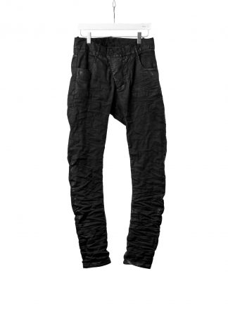 BORIS BIDJAN SABERI BBS P13TF FTS10001 vinyl coated nickel pressed men pants herren hose jeans cotton ly black hide m 2