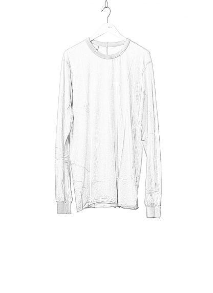 11 by BORIS BIDJAN SABERI BBS 11byBBS Men Longsleeve Tshirt LS1B F1101 Herren t shirt cotton light grey hide m 1
