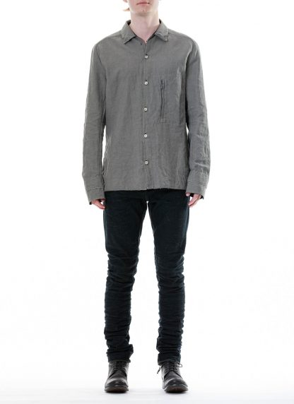 LAYER 0 Men Shirt BP 24 3 45 Herren Hemd cotton linen light grey hide m 3