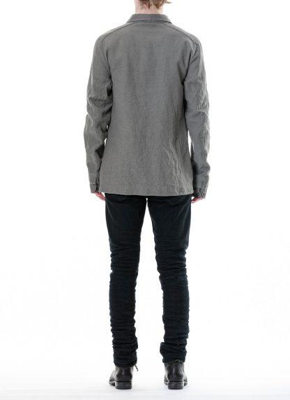 LAYER 0 Men Shirt BP 24 3 45 Herren Hemd cotton linen light grey hide m 5