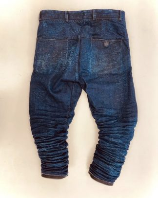 LAYER 0 aged indigo denim 2