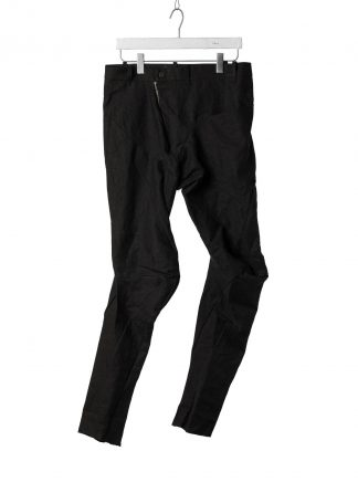 LEON EMANUEL BLANCK Men Distortion Fitted Pants DIS M FLP 01 Herren Hose linen pu black hide m 2