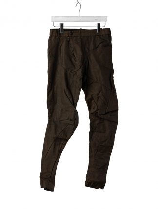 LEON EMANUEL BLANCK Men Distortion Fitted Pants DIS M FLP 01 Herren Hose linen pu rust black hide m 2