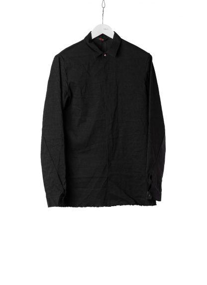 M.A Macross Maurizio Amadei Men Fitted Shirt H102 LE2 Herren Hemd Linen Em black hide m 2