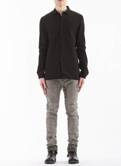 M.A Macross Maurizio Amadei Men Fitted Shirt H102 LE2 Herren Hemd Linen Em black hide m 3