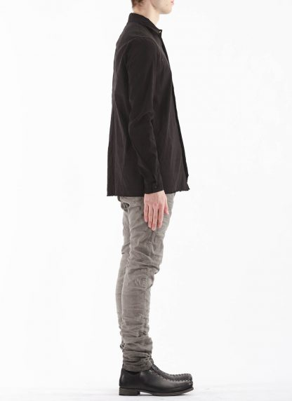 M.A Macross Maurizio Amadei Men Fitted Shirt H102 LE2 Herren Hemd Linen Em black hide m 4